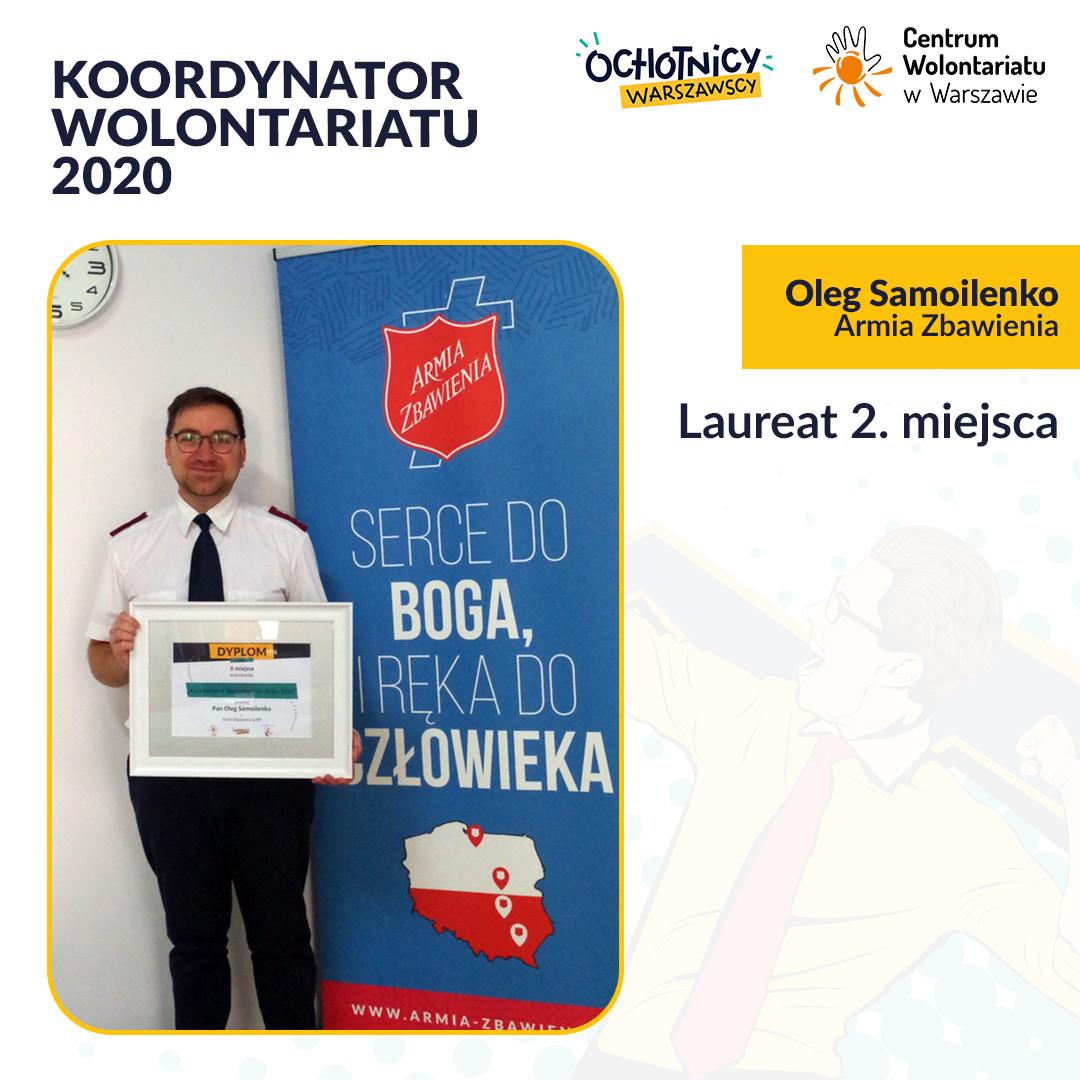 Oleg Samoilenko koordynator wolontariatu w Armii Zbawienia – laureat II miejsca w Konkursie Koordynator Wolontariatu 2020