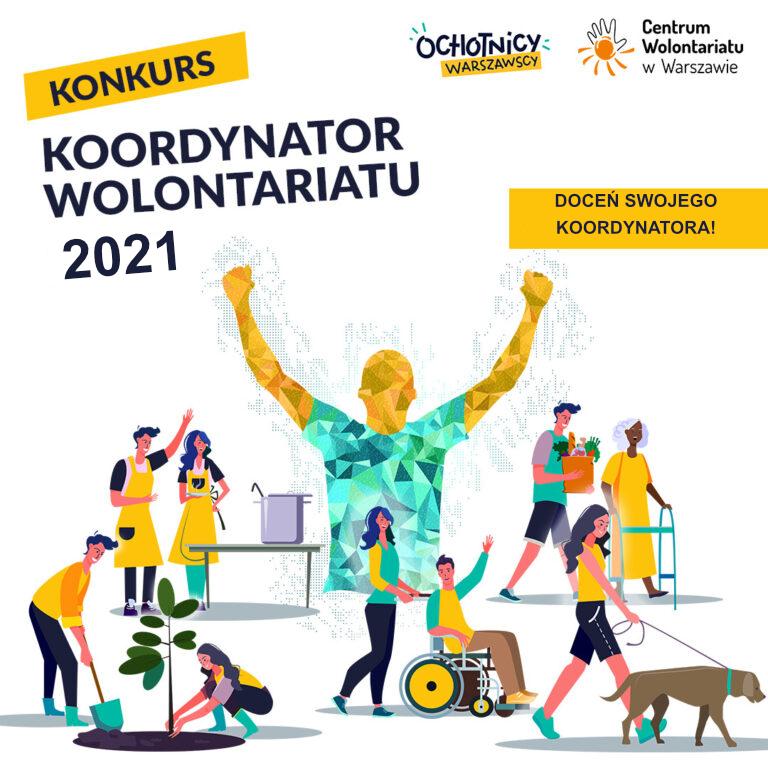 """""""Koordynator wolontariatu 2021"""" – doceń swojego koordynatora – wyślij zgłoszenie!"""